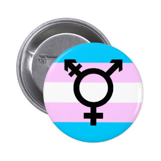 Trans Pride button - with symbol
