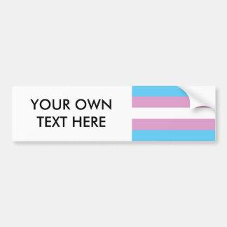 Trans Pride Flag Bumper Sticker