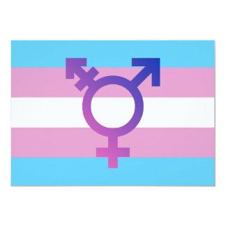 Trans Pride Flag Card