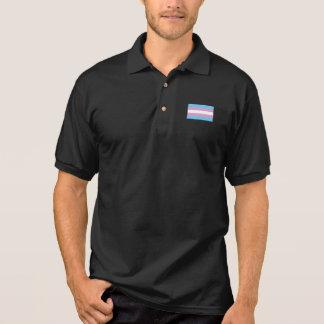 Trans Pride Flag Polo Shirt