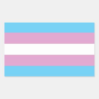 Trans Pride Flag Rectangular Sticker