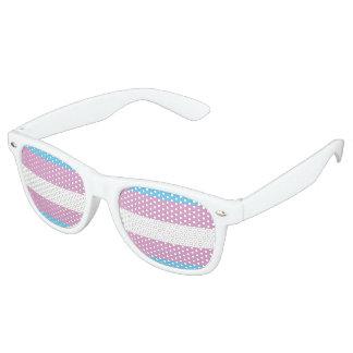 Trans Pride Flag Retro Sunglasses