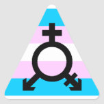 Trans Pride stickers - triangle, with symbol