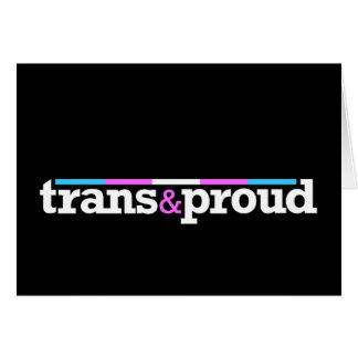 Trans proud Black Card
