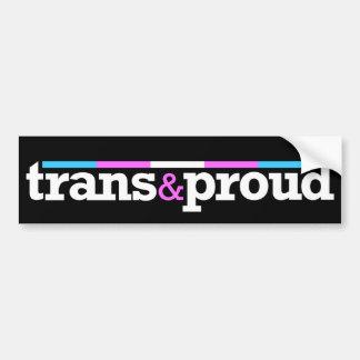 Trans&proud Bumper Sticker Car Bumper Sticker