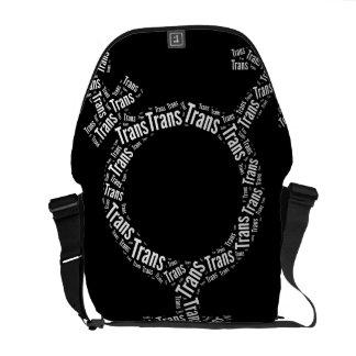 TRANS SYMBOL PATTERN WHITE -.png Courier Bag