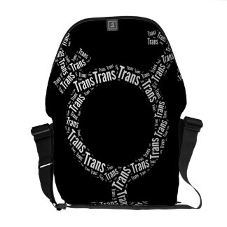 TRANS SYMBOL PATTERN WHITE -.png Courier Bag