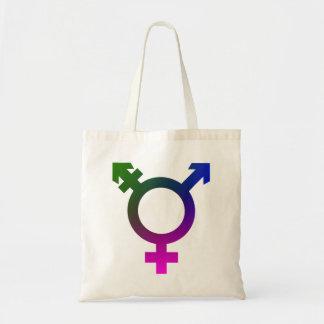 Trans* Symbol pink/blue/green Tote Bag