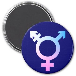 Trans* symbol pink/blue/white magnet