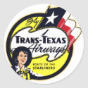 Trans-Texas Airways vintage logo Classic Round Sticker