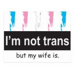 Trans Wife Postcard