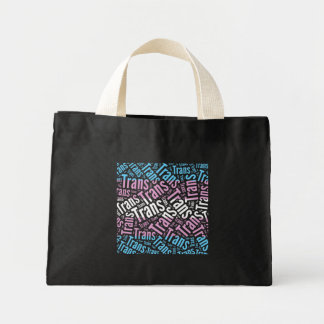 TRANS WORD PATTERN FLAG -.png Mini Tote Bag