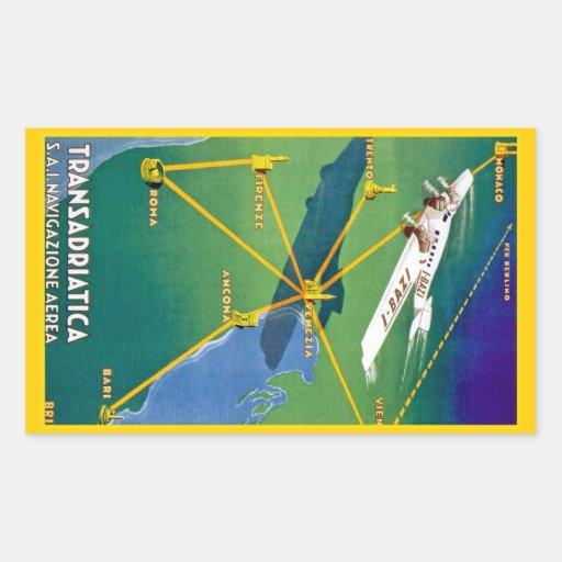 Transadriatica Navigazione Aerea Rectangular Stickers