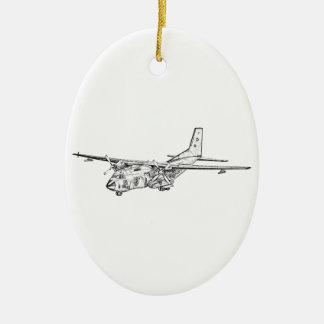 Transall C-160 military transport aircraft Christmas Ornaments