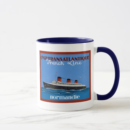 Transatlantique ~ Vintage Travel Advertising Mug