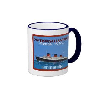 Transatlantique ~ Vintage Travel Advertising Coffee Mug