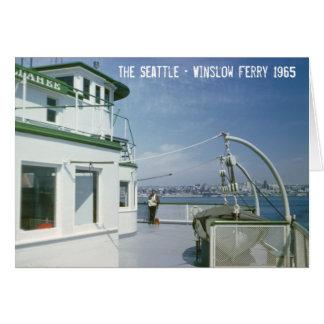 Transbordador 1965 de Seattle Winslow Tarjeta De Felicitación