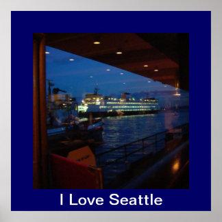 Transbordador con la ventana = el amor Seattle de  Posters