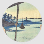 Transbordador de Haneda y capilla de Benten por An Pegatinas