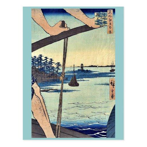 Transbordador de Haneda y capilla de Benten por An Tarjetas Postales
