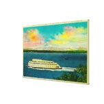 Transbordador de Kalakala, Puget Sound, montañas o Lona Estirada Galerías