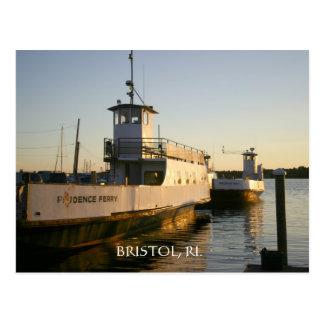 Transbordador de la isla de la prudencia tarjeta postal
