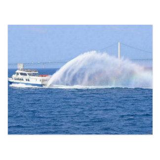 Transbordador de la isla de Mackinac Tarjeta Postal