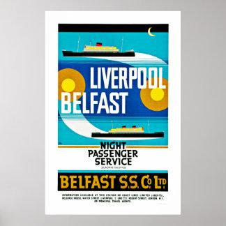 Transbordador de Liverpool - de Belfast Poster