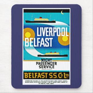 Transbordador de Liverpool - de Belfast Tapete De Ratones