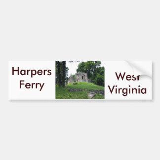 Transbordador de los Harpers, Virginia Occidental Pegatina Para Auto