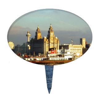 Transbordador de Mersey y costa de Liverpool Palillos De Tarta