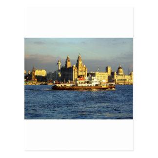 Transbordador de Mersey y costa de Liverpool Postal