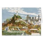 Transbordador de San Francisco Bay del poster del Tarjeton