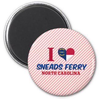 Transbordador de Sneads, Carolina del Norte Imán Redondo 5 Cm