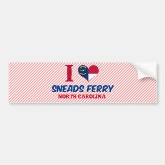 Transbordador de Sneads, Carolina del Norte Pegatina Para Auto