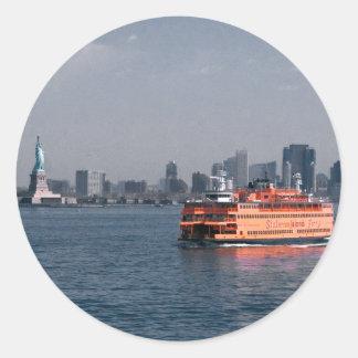 Transbordador de Staten Island Pegatina Redonda