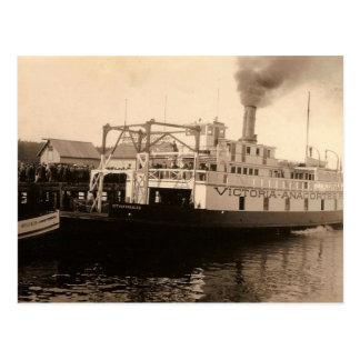 Transbordador de Victoria Anacortes del vintage Postales