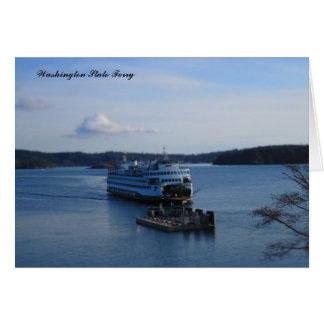 Transbordador del estado de Washington Tarjeta De Felicitación