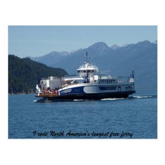 Transbordador del lago Kootenay, Columbia Británic Postales