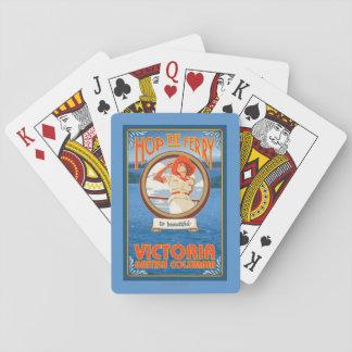 Transbordador del montar a caballo de la mujer - baraja de cartas