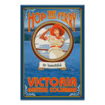 Transbordador del montar a caballo de la mujer - V Poster