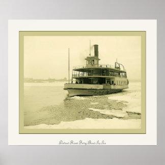 Transbordador del río Detroit en foto del vintage Posters