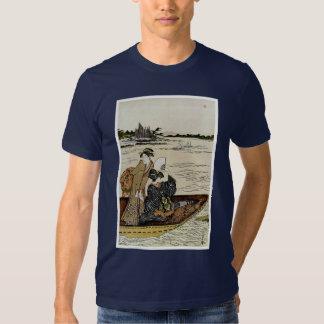 Transbordador en el río de Sumida Poleras