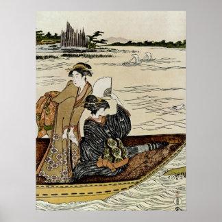 Transbordador en el río de Sumida Póster