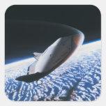 Transbordador espacial 4 pegatina cuadrada