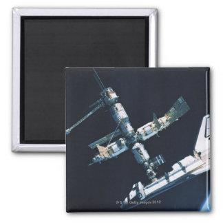 Transbordador espacial atracado 2 iman de frigorífico