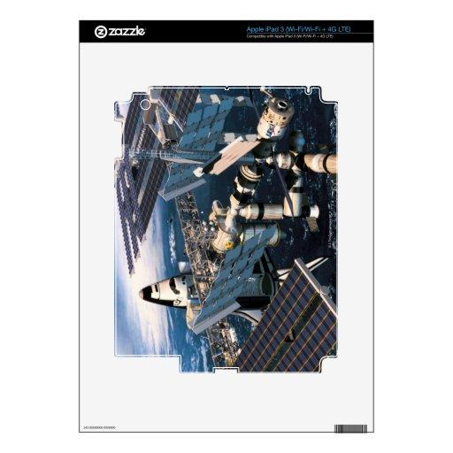 Transbordador espacial atracado pegatina skin para iPad 3