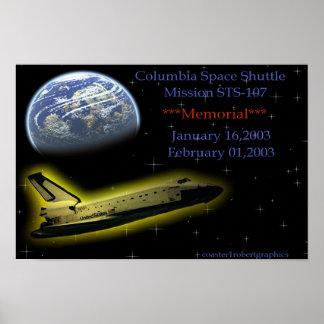 Transbordador espacial de Columbia Posters