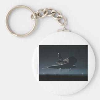 Transbordador espacial de la Atlántida Llavero Redondo Tipo Pin