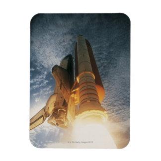 Transbordador espacial de lanzamiento iman rectangular
